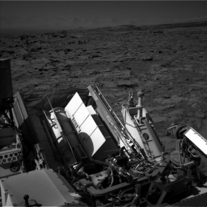 Curiosity's Multi-Mission Radioisotope Thermoelectric Generator (RTG) is shown in this recent Navcam Left B image taken on Sol 1285, March 18, 2016. Credit: NASA/JPL-Caltech