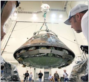 Orion spacecraft in development. Credit: NASA
