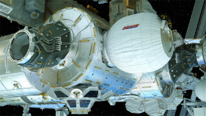 Artist's view of the Bigelow Expandable Activity Module (BEAM) attached to the International Space Station. Credit: Bigelow Aerospace