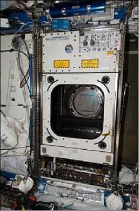 Photo of the Window Observational Research Facility (WORF) rack in the Destiny Module of the ISS. Credit: NASA