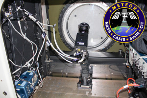 Photo of Meteor installed in the Window Observational Research Facility (WORF) Simulator at NASA's Johnson Space Center. This is how it should look after installation on the International Space Station. Credit: Southwest Research Institute/Chiba Institute of Technology