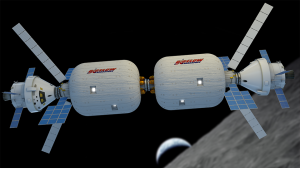 Dual B330s in lunar orbit. Credit: Bigelow Aerospace