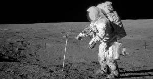 Dusty legacy of Apollo. Europe's blueprint adopts Moon-first approach as precursor to humans to Mars. Credit: NASA