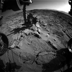 Curiosity Front Hazcam Left B image taken on Sol 1313, April 16, 2016. Image Credit: NASA/JPL-Caltech