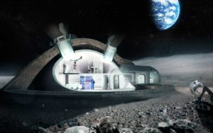 "Inside look at one idea the European Space Agency is exploring in its formulation of a ""Moon Village"" that incorporates 3D printing. Credit: ESA/ Foster + Partners"