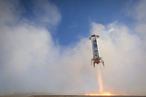 Good-bye booster? Next flight may see desert impact. Credit: Blue Origin
