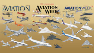 The sweep of aerospace progress is celebrated Aviation Week & Space Technology's special centennial issue. Credit: Ted Williams/Aviation Week & Space Technology