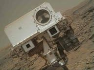 This picture is a thumbnail version of a larger image, a merged product from the Mars Hand Lens Imager (MAHLI) to create a rover selfie. MAHLI is located on the turret at the end of the rover's robotic arm, taking this image on May 11, 2016, Sol 1338. Credit: NASA/JPL-Caltech/MSSS