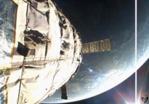 Bigelow's pathfinder Genesis II took this selfie as it orbited the Earth. Credit: Bigelow Aerospace/Leonard David photo archives