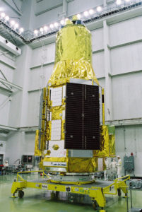 Pre-launch photo of ASTRO-H. Credit: JAXA