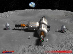 Bigelow plans have outlined use of expandable modules on the Moon. Credit: Bigelow Aerospace