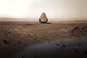 SpaceX Dragon on Mars. Credit: SpaceX