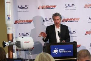 Space entrepreneur, Robert Bigelow, explains his expansive plans for space. Credit: Space Foundation