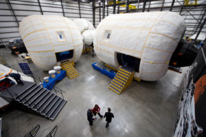 Bigelow Aerospace facilities in North Las Vegas showcases future plans for larger inflatable structures. Credit: NASA/Bill Ingalls