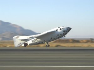 SpaceShipOne returns to the runway. Courtesy of Scaled Composites, LLC