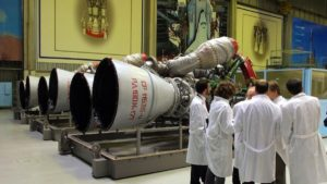 Russian RD-180 rocket engines used for main stage of Atlas-V rocket. Credit: Energomash