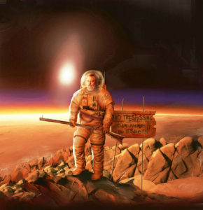 Space cowboys? International lawyers are trying to agree on what legislation will be needed to control the exploration of mineral resources in space to avoid a new 'Wild West'. Credit: James Vaughan