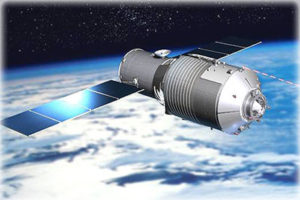 Unless reboosted to higher altitude, China's over 8-ton Tiangong-1space lab is expected to fall to Earth late next year. Credit: CMSE