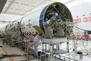 Long March booster to hurl Shenzhou-11 recently passed final checks. Credit: CASC