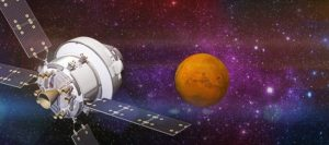 NASA's Orion spacecraft headed outward to Mars. Credit: Lockheed Martin