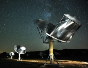 Giving a listen for other star folk, the Allen Telescope Array in California. Credit: SETI Institute