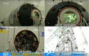 China's Tiangong-2 space lab undergoing checkout for September liftoff. Credit: CCTV via China Spaceflight