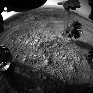 Curiosity Front Hazcam Left B image taken on Sol 1403, July 17, 2016. Credit: NASA/JPL-Caltech