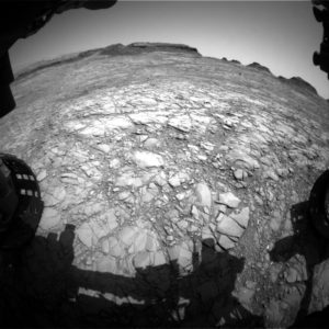 Image taken by Curiosity's Front Hazcam Left B on Sol 1411, July 25, 2016. Credit: NASA/JPL-Caltech