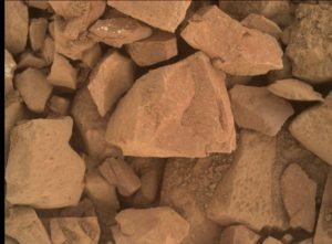 Curiosity used its Mars Hand Lens Imager (MAHLI) to acquire this up-close image on Sol 1405, July 19, 2016. MAHLI is located on the turret at the end of the rover's robotic arm. Credit: NASA/JPL-Caltech/MSSS