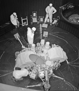 NASA's two Viking landers were designed and built by Martin Marietta (now Lockheed Martin) at its facility near Denver. This image shows some Martin Marietta employees in a Viking lander test center. Credit: Lockheed Martin