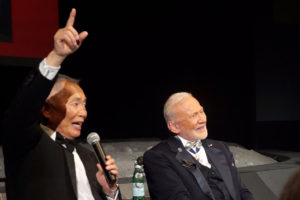 Special salute to Apollo 11's 47th anniversary held at the Kennedy Space Center, Star Trek's George Takei and moonwalker, Buzz Aldrin. Credit: Rob Varnas