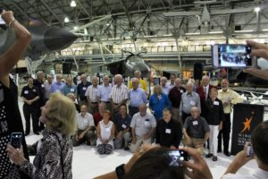Veterans of Viking: July 16 event at the Wings Over the Rockies Air & Space Museum in Denver, Colorado, organized by the Viking Mars Missions Education & Preservation Project and sponsored by Lockheed Martin in partnership with The Space Foundation and the museum. Credit: Barbara David