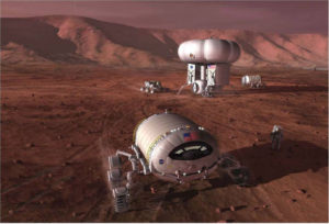 Early pioneering of Mars is expected to provide a gateway for developing the means to sustain a colony of people. Credit: NASA/Pat Rawlings