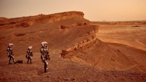 "Scene from ""Mars,"" a National Geographic Channel miniseries due to air in November. Credit: National Geographic, Imagine,RadicalMedia,Robert Viglasky"