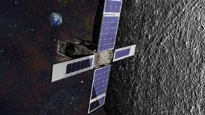 Moon bound SkyFire, a 6U CubeSat. Credit: Lockheed Martin