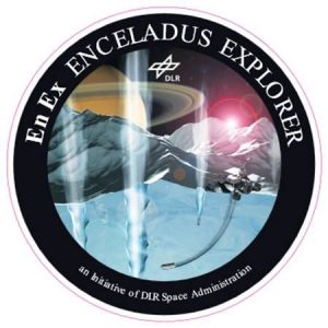 Logo of Germany's Enceladus Explorer (EnEx) – Environmental Experimental Testing -- project team at the University of Applied Sciences in Aachen, Germany. The initiative is studying technology for a potential lander mission on Enceladus, funded and managed by Germany's DLR Space Administration and comprises several German universities.