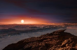 Artist's impression of the planet orbiting Proxima Centauri. Credit: ESO