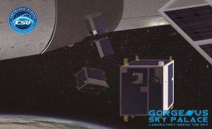Tiangong-2 satellite deployer. Credit: CSU