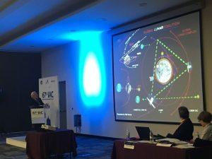 Apollo 11 moon walker, Buzz Aldrin, also presented his detailed Mars plan in Mexico today. Credit: Rob Varnas