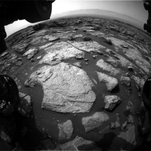 Curiosity Front Hazcam Left B image taken on Sol 1494, October 19, 2016. Credit: NASA/JPL-Caltech