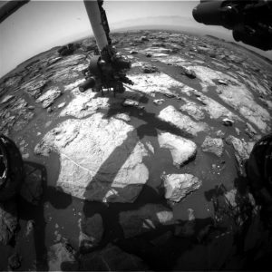 Curiosity Front Hazcam Right B image taken on Sol 1495, October 20, 2016. Credit: NASA/JPL-Caltech