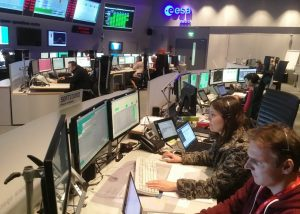 This week's uploading of commands was conducted by the Orbiter team working at ESA's mission control in Darmstadt, Germany. The event marked a significant milestone in readiness for arrival of Europe's ExoMars 2016. Credit: ESA
