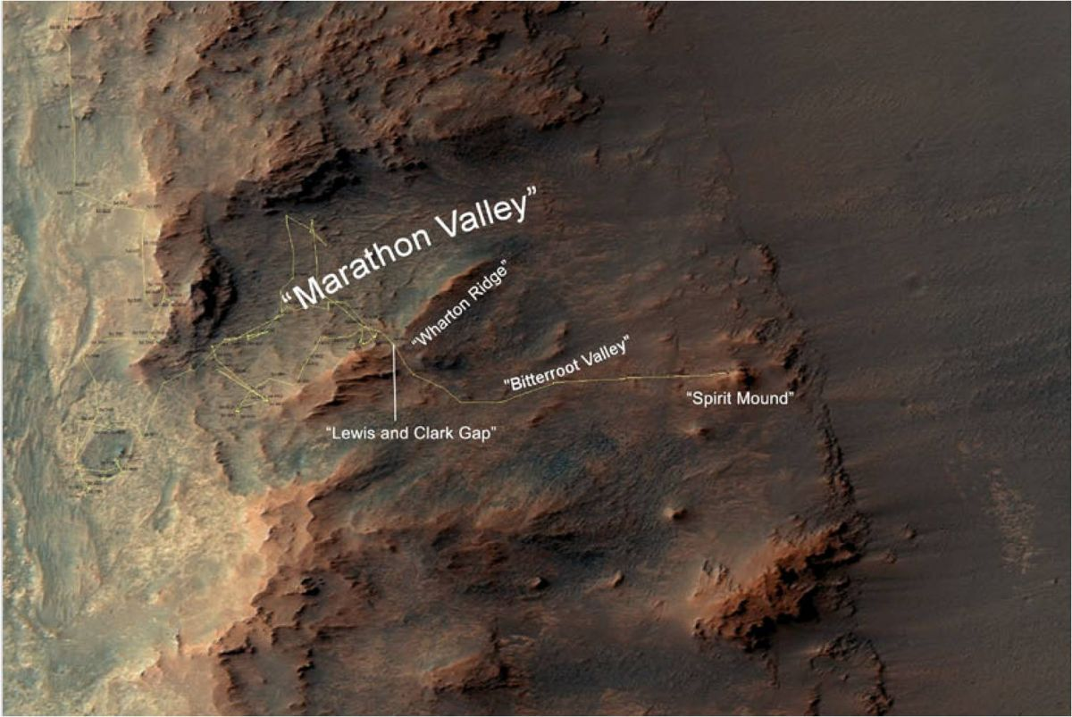 mars rover opportunity current location - photo #13