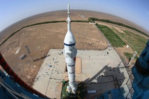 China's Shenzhou-11 atop Long March booster. Credit: CCTV
