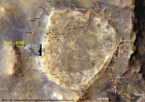 Spirit's concluding journey around Home Plate and ending location. NASA/JPL-Caltech/Cornell - NASA