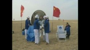 Shenzhou-11 crew back on Earth. Credit: CCTV-Plus