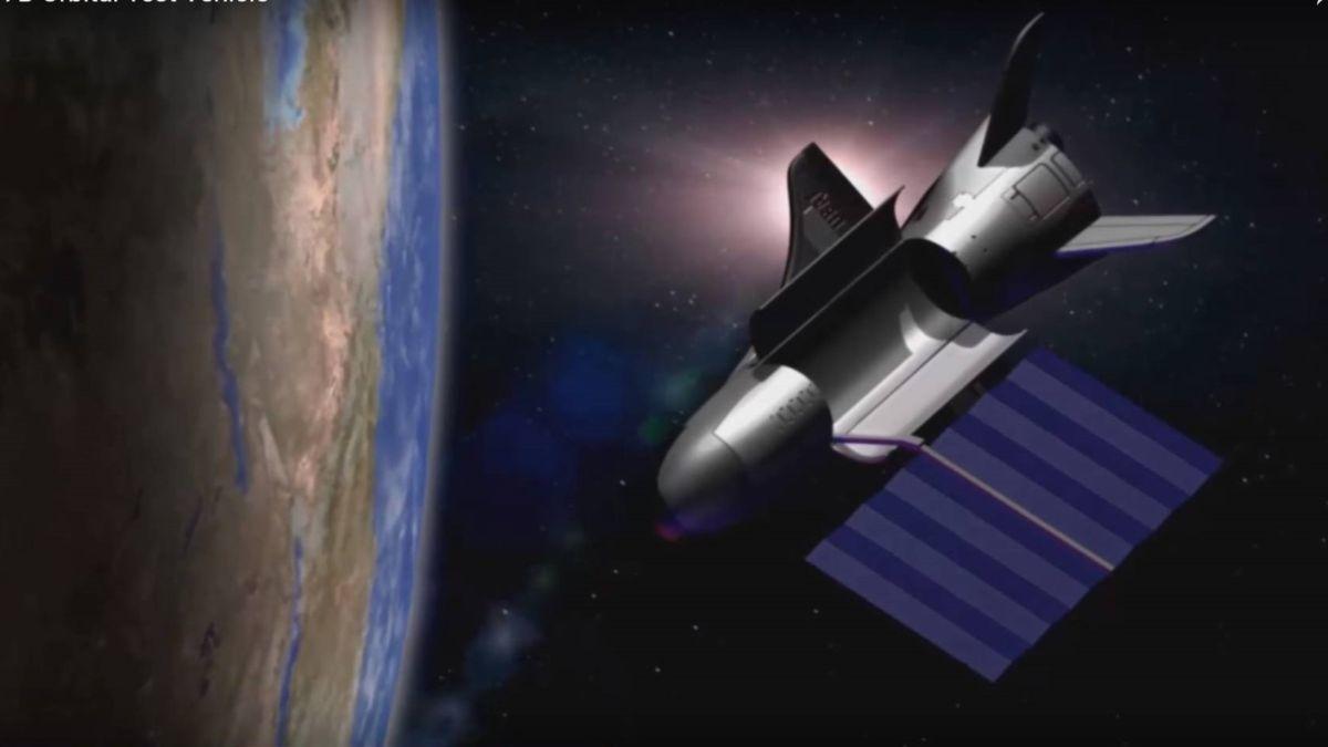 X 37 b in earth orbit boeing