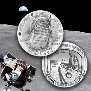 Mint Condition 50 Years Later Apollo 11 Anniversary Coins